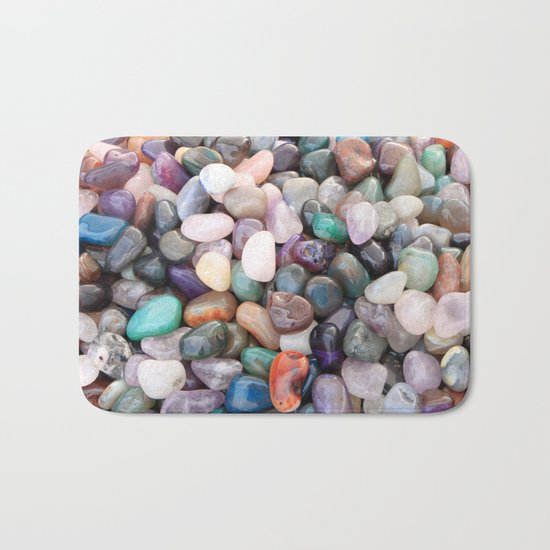 Polished Coloured Gemstones Bath Mat