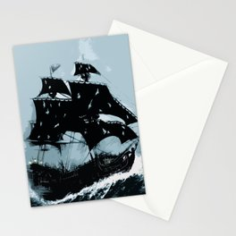 Pirate in Storm Stationery Cards