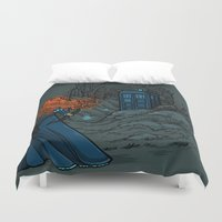 hallion Duvet Covers featuring Follow Your fate by Karen Hallion Illustrations