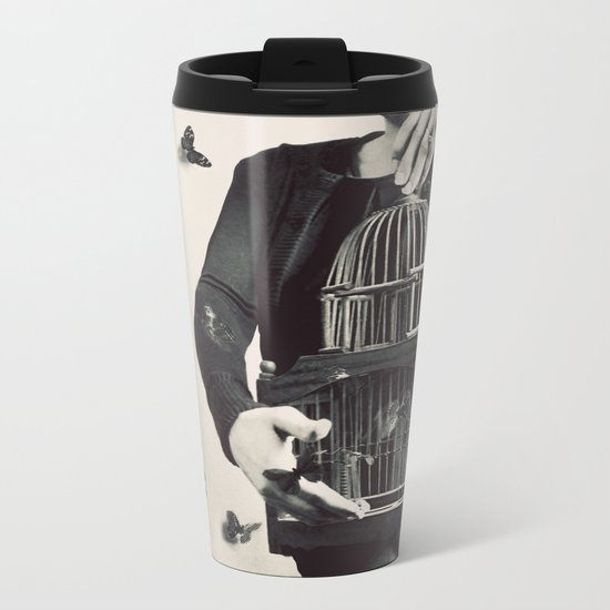 The Butterfly Releaser Metal Travel Mug