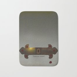 Treasure Island Minimal Poster Bath Mat