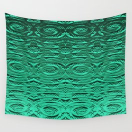 Tropical Green Terracotta Etching Wall Tapestry