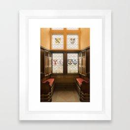 Edinburgh castle stained glass windows Scotland Framed Art Print