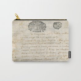 French Contract 1697 Carry-All Pouch