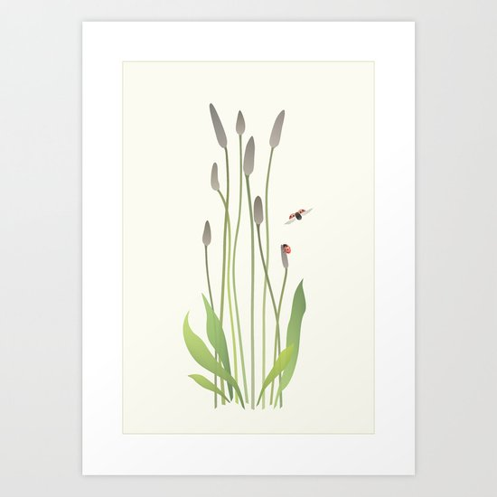 Ladybird Date Art Print