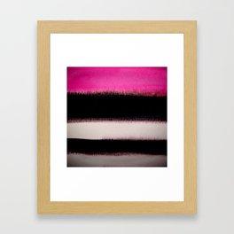 pink&black Framed Art Print