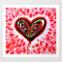 The Heart Sees All Art Print