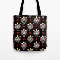 baphomet Tote Bags featuring Baphomet V1 by Savannah Horrocks