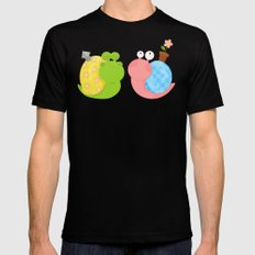 Snails Mens Fitted Tee MEDIUM Black