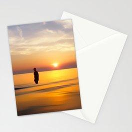 Iron Man on Crosby Beach Stationery Cards