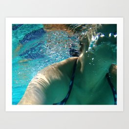 Afternoon swim Art Print