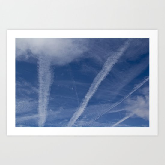 Vapor Trails Art Print