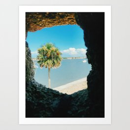 Peephole to the ocean Art Print