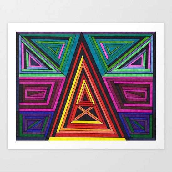 Structure 2 Art Print