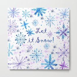 Let it Snow! Metal Print
