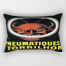 Vintage poster - Pneumatiques Torrilhon Rectangular Pillow