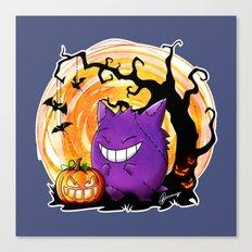 Happy Halloween Gengar Canvas Print