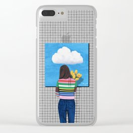 Spring Rain_ver1 Clear iPhone Case