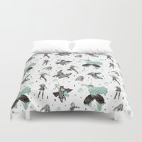 avenger Duvet Covers featuring avenger pattern screenprint by Robert Parkinson