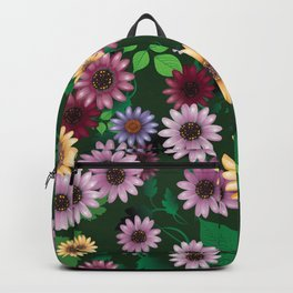 Multicolored natural flowers Backpack