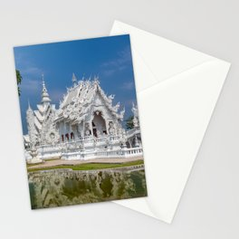 White Temple Thailand Stationery Cards