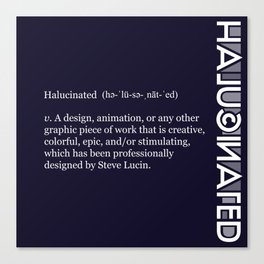Halucinated Defined Remix Canvas Print