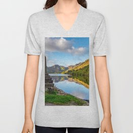 Crafnant Lake Obelisk Unisex V-Neck