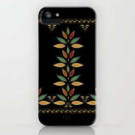 """""""Tree of Polka Dots Leaves (Black)"""" iPhone Case"""