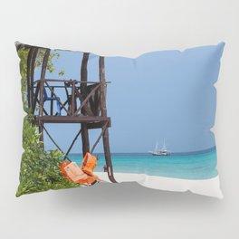 Life guard tower at a dream beach Pillow Sham