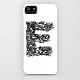 The Illustrated E iPhone Case