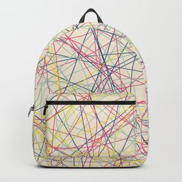 Colored Line Chaos #17 Backpack