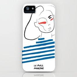 Le pull marine line illustration iPhone Case
