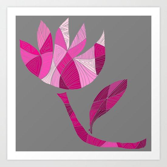 Fractured Flower Art Print