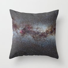 The Milky Way from Scorpio Antares and Sagitarius to North America Nebula in Cygnus Throw Pillow