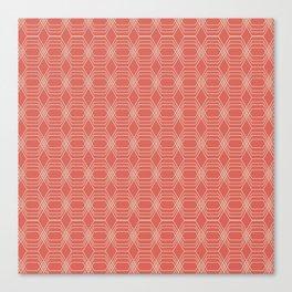 hopscotch-hex melon Canvas Print