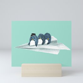 Let's travel the world Mini Art Print
