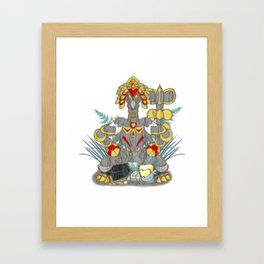 Kommo-o  Tiki  God Framed Art Print