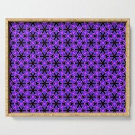 Sharp Purple Petals Serving Tray