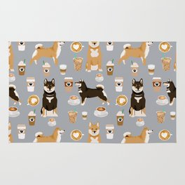 Shiba Inu coffee dog breed pet friendly pet portrait coffees pattern dogs Rug