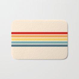Takaakira - Classic Rainbow Retro Stripes Bath Mat