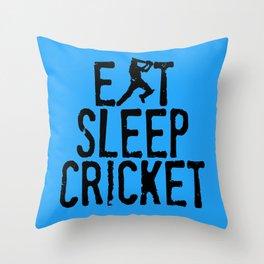 Eat Sleep Cricket Throw Pillow