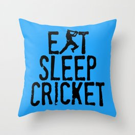 Eat Sleep Cricket Throw Pillow