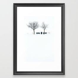 White 2 Framed Art Print
