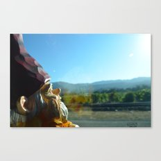 Gnome enjoying the vineyards of Napa Valley Canvas Print
