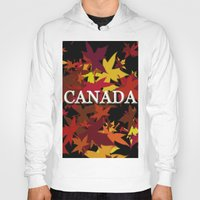 canada Hoodies featuring Canada by megghan18