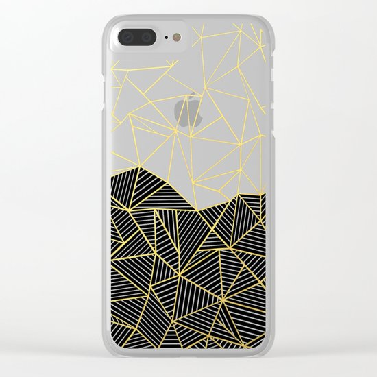 Ab Half and Half White Gold Clear iPhone Case