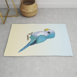 Very cute blue parrot Rug