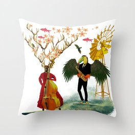 Jam sesh with friends Throw Pillow