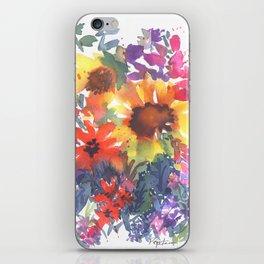 Rainy Day Sunflowers iPhone Skin