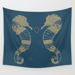 <3 of seahorses Wall Tapestry